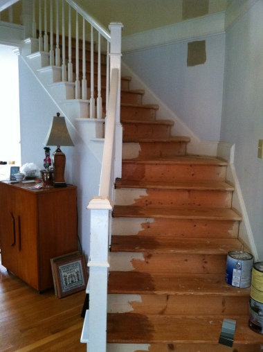 primary painting interior stairs