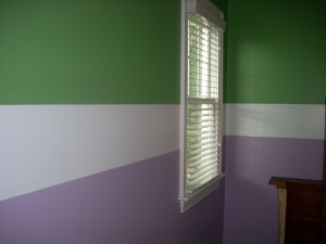 primary painting interior kids bedroom 2 color stripe
